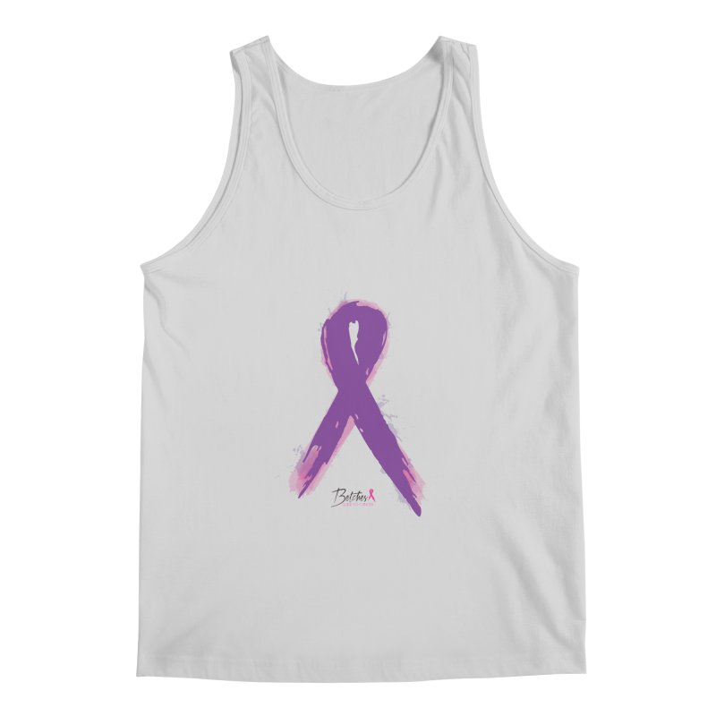 Purple Watercolor Ribbon  Men's Regular Tank by Betches Guide to Cancer Shop