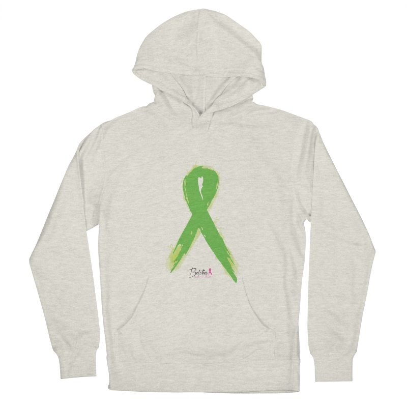 Green Watercolor Ribbon Men's Pullover Hoody by Betches Guide to Cancer Shop
