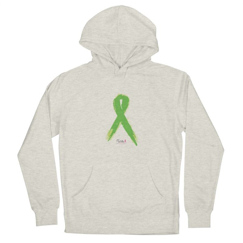 Green Watercolor Ribbon Men's French Terry Pullover Hoody by Betches Guide to Cancer Shop