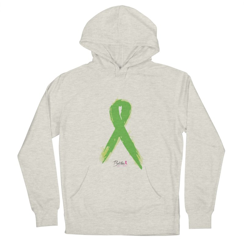 Green Watercolor Ribbon Women's French Terry Pullover Hoody by Betches Guide to Cancer Shop