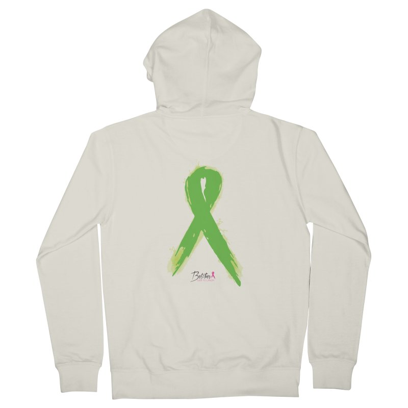 Green Watercolor Ribbon Men's French Terry Zip-Up Hoody by Betches Guide to Cancer Shop
