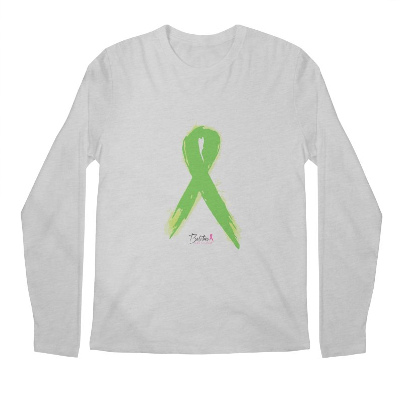Green Watercolor Ribbon Men's Regular Longsleeve T-Shirt by Betches Guide to Cancer Shop