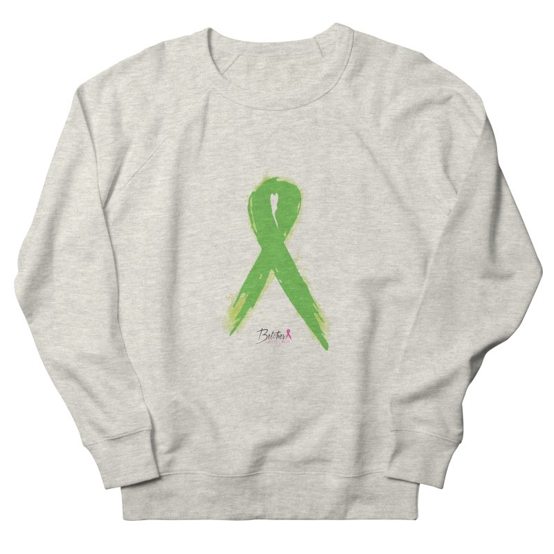 Green Watercolor Ribbon Men's French Terry Sweatshirt by Betches Guide to Cancer Shop