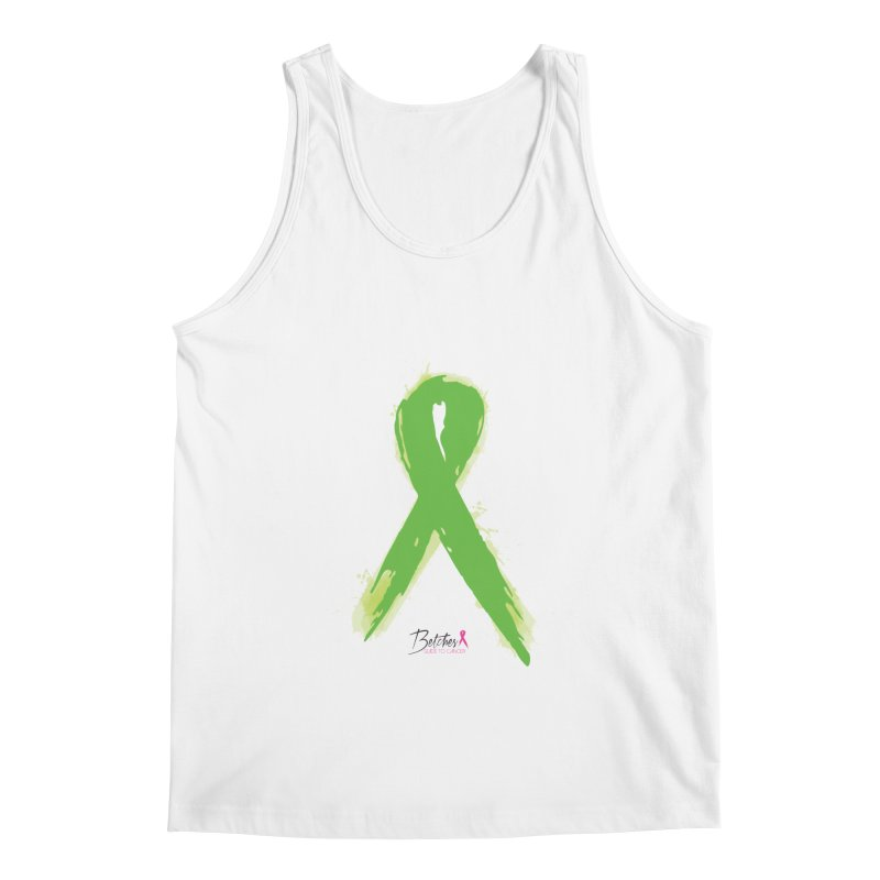 Green Watercolor Ribbon Men's Regular Tank by Betches Guide to Cancer Shop