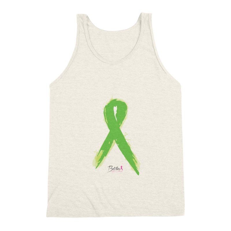 Green Watercolor Ribbon Men's Triblend Tank by Betches Guide to Cancer Shop