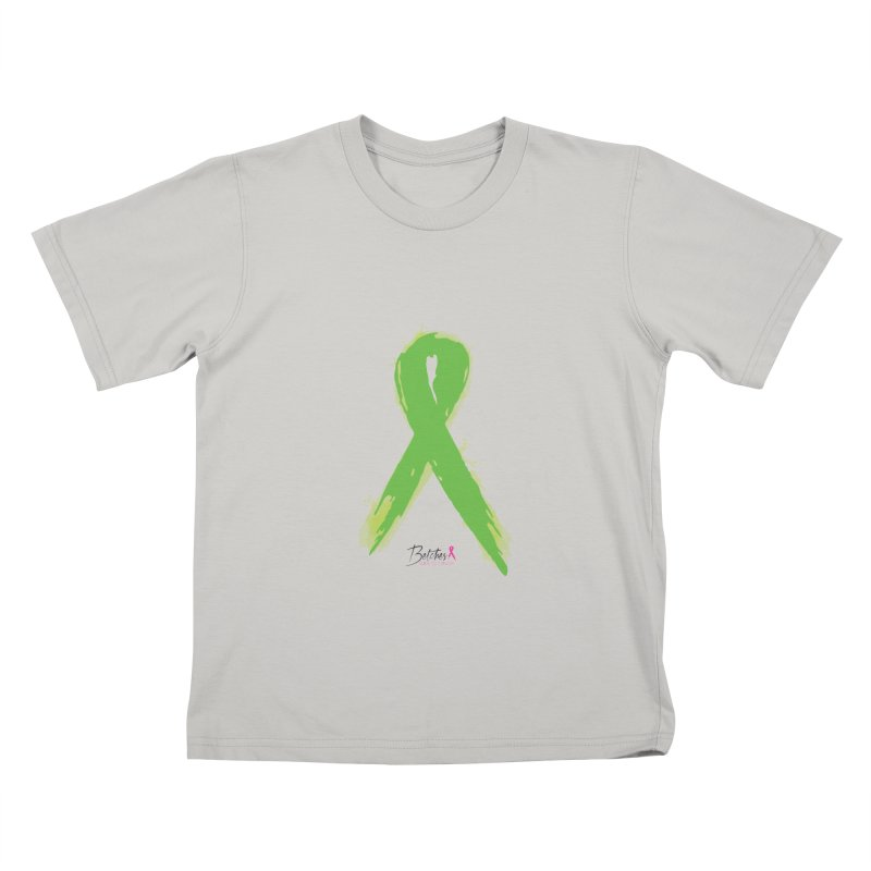 Green Watercolor Ribbon Kids T-shirt by Betches Guide to Cancer Shop
