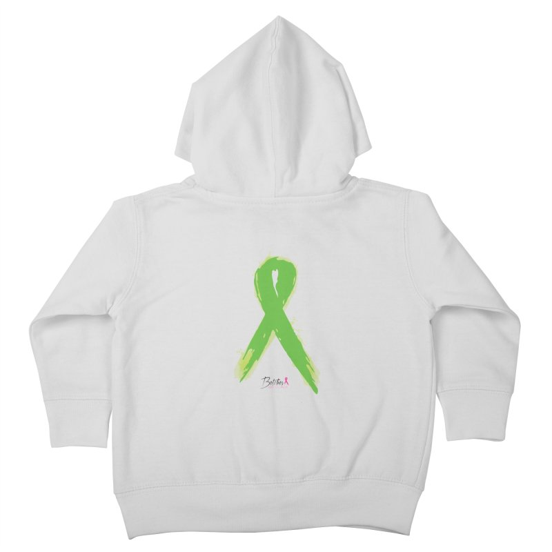 Green Watercolor Ribbon Kids Toddler Zip-Up Hoody by Betches Guide to Cancer Shop