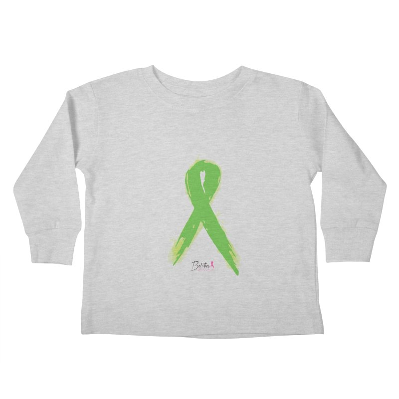 Green Watercolor Ribbon Kids Toddler Longsleeve T-Shirt by Betches Guide to Cancer Shop