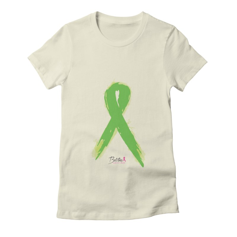 Green Watercolor Ribbon Women's T-Shirt by Betches Guide to Cancer Shop