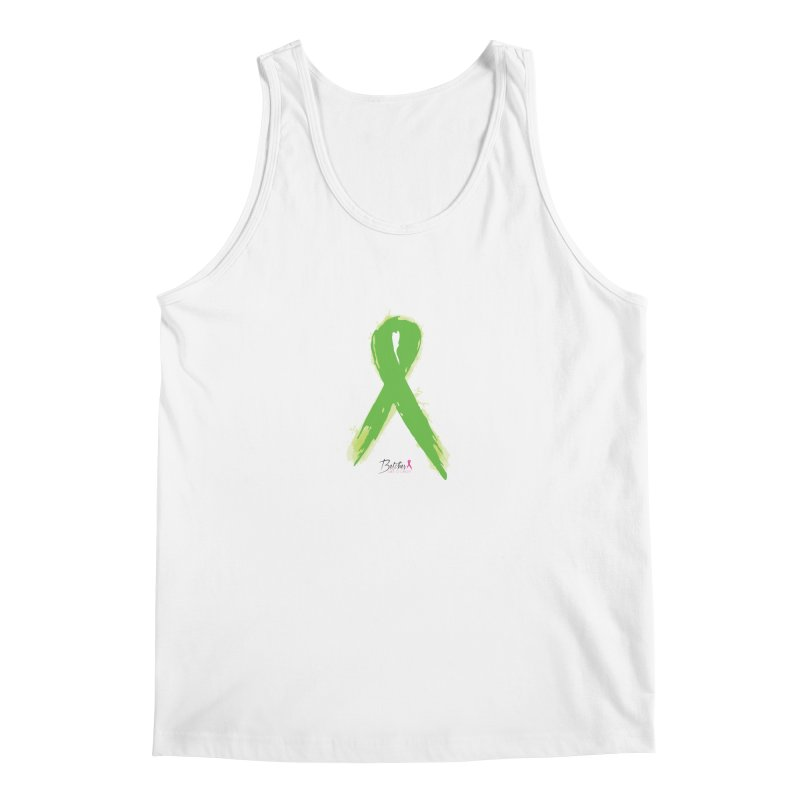 Green Watercolor Ribbon Men's Tank by Betches Guide to Cancer Shop