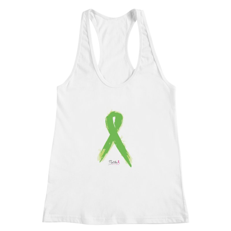 Green Watercolor Ribbon Women's Racerback Tank by Betches Guide to Cancer Shop