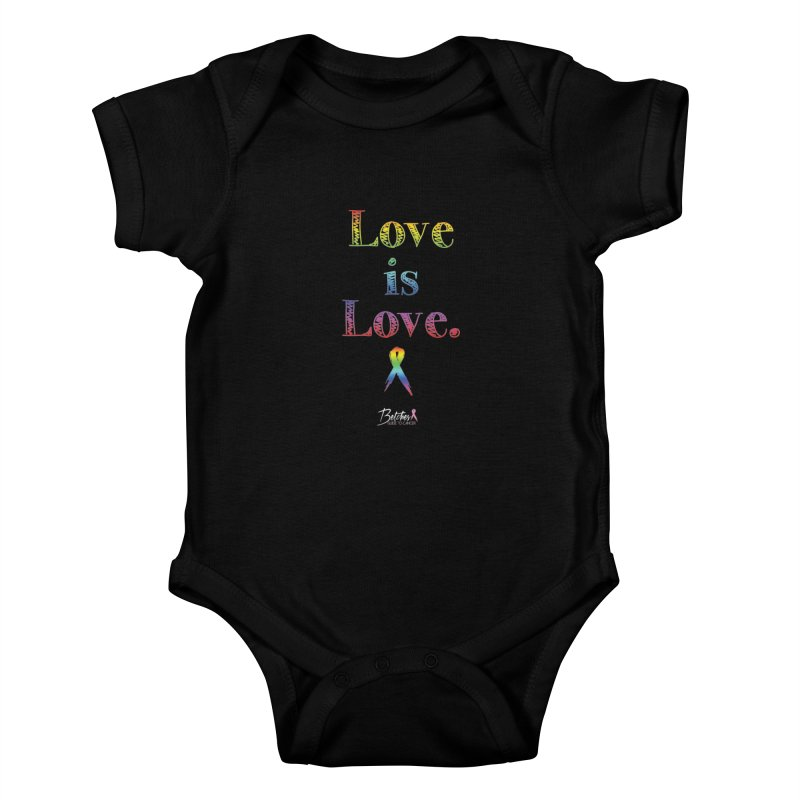 Love is Love Kids Baby Bodysuit by Betches Guide to Cancer Shop