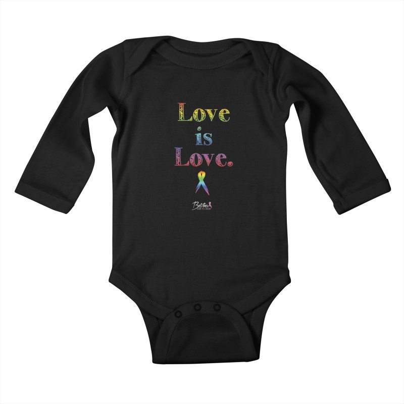 Love is Love Kids Baby Longsleeve Bodysuit by Betches Guide to Cancer Shop