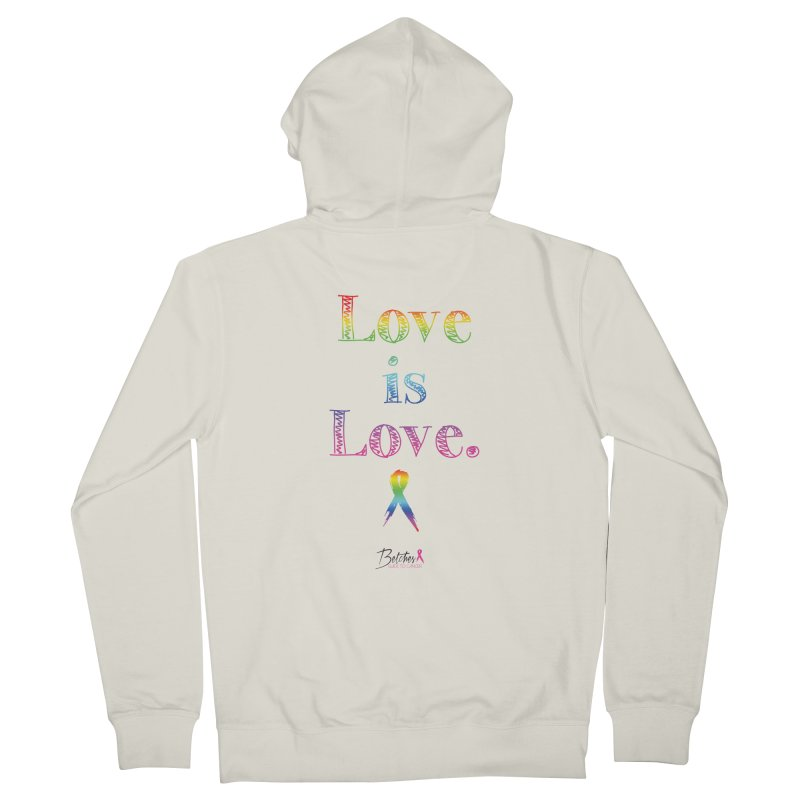 Love is Love - white Men's French Terry Zip-Up Hoody by Betches Guide to Cancer Shop