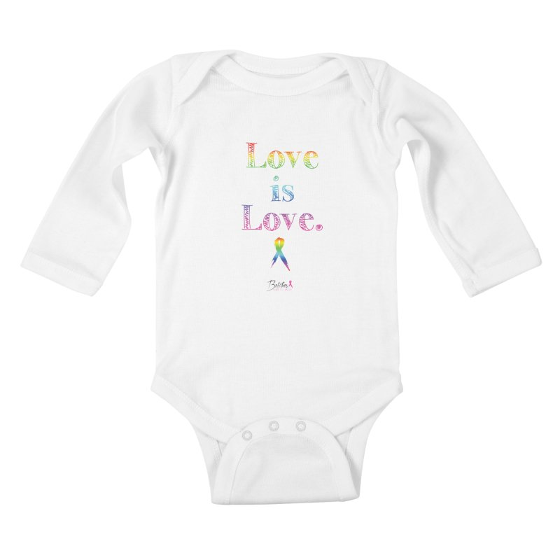 Love is Love - white Kids Baby Longsleeve Bodysuit by Betches Guide to Cancer Shop