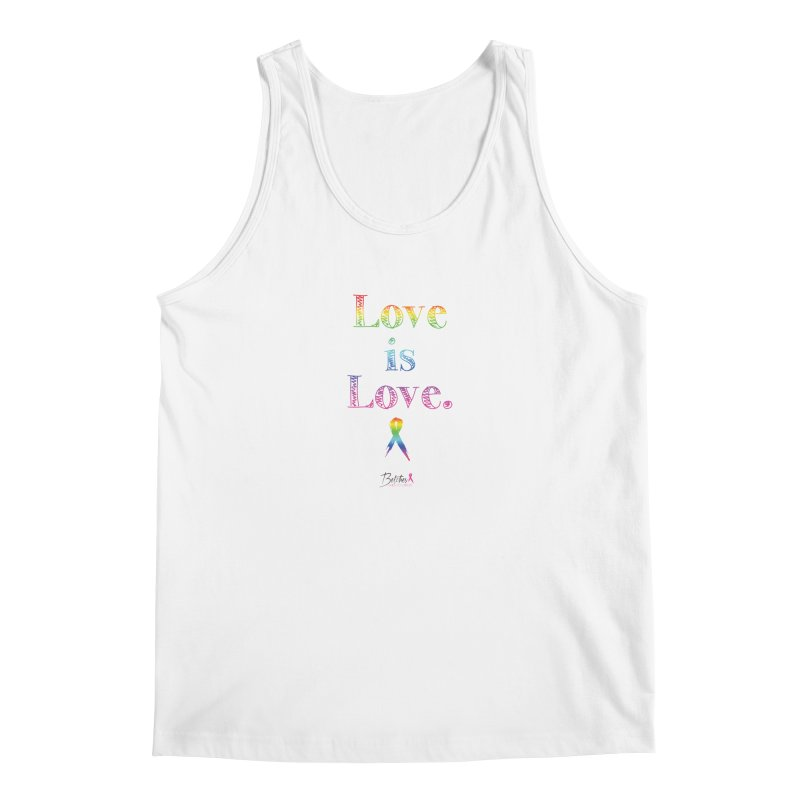 Love is Love - white Men's Tank by Betches Guide to Cancer Shop