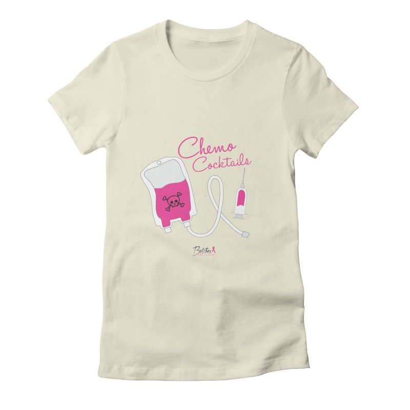 Chemo Cocktails Women's Fitted T-Shirt by Betches Guide to Cancer Shop