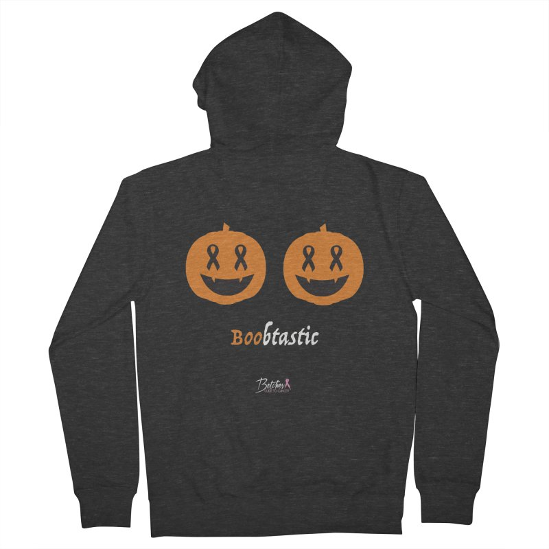 Boobtastic - Halloween Women's French Terry Zip-Up Hoody by Betches Guide to Cancer Shop