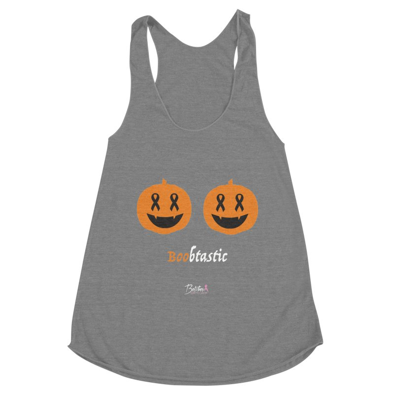 Boobtastic - Halloween Women's Racerback Triblend Tank by Betches Guide to Cancer Shop