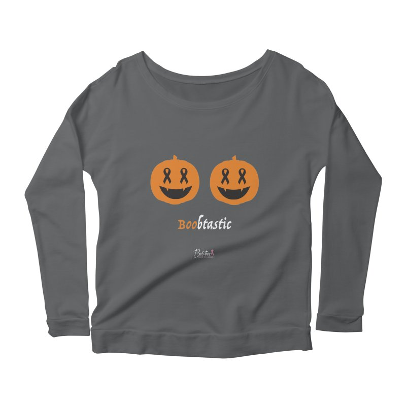 Boobtastic - Halloween Women's Longsleeve Scoopneck  by Betches Guide to Cancer Shop