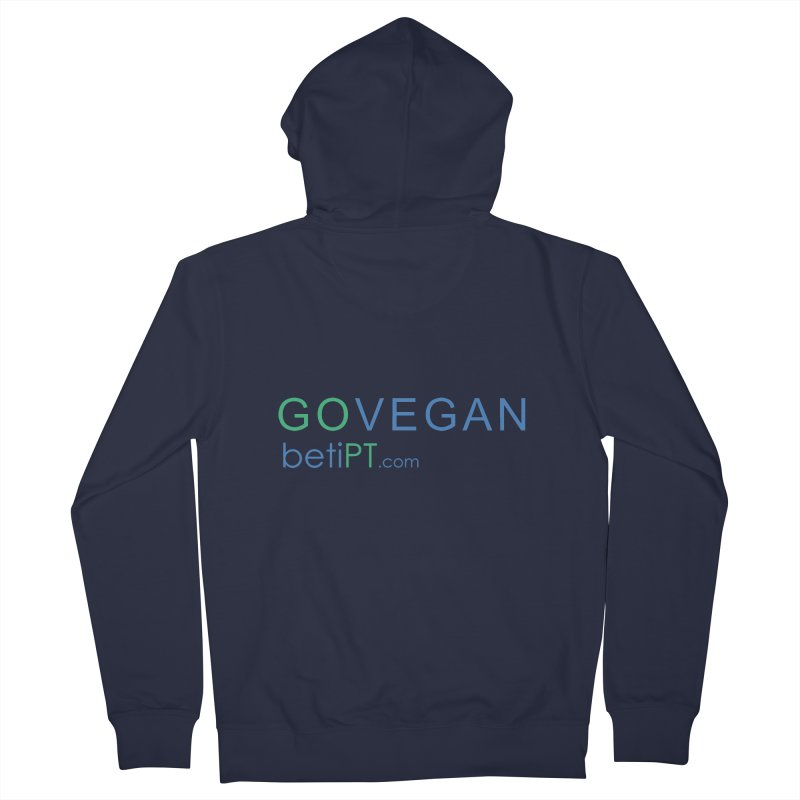 Go Vegan Men's French Terry Zip-Up Hoody by betiPT's Artist Shop
