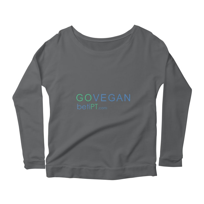 Go Vegan Women's Scoop Neck Longsleeve T-Shirt by betiPT's Artist Shop