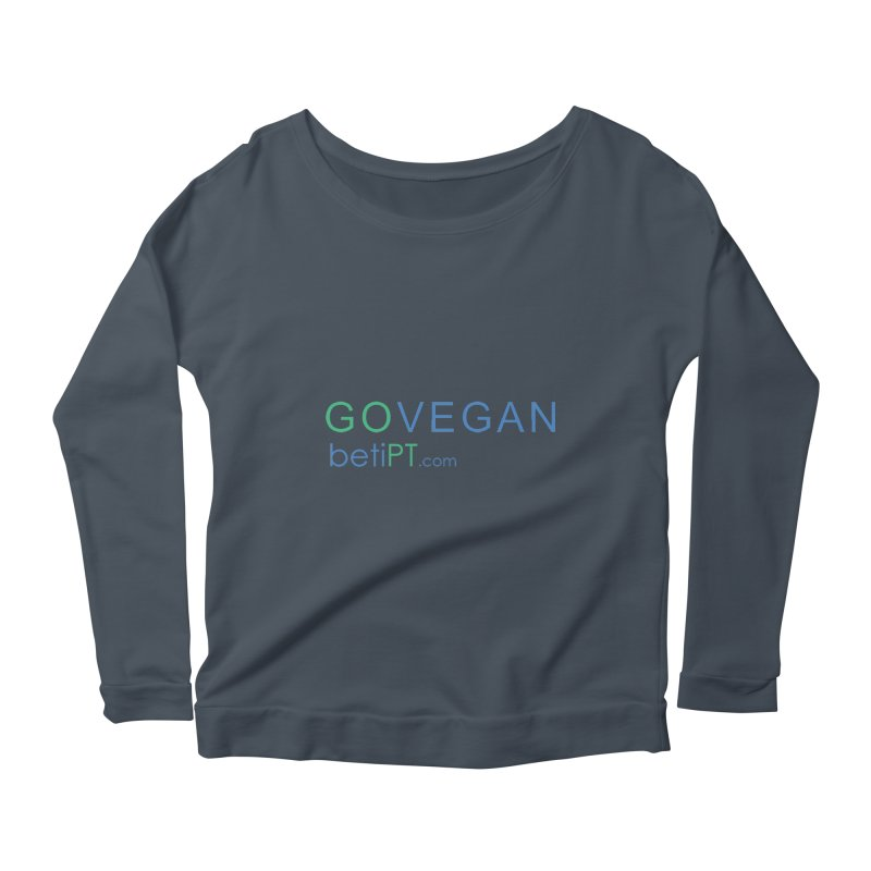 Go Vegan Women's Scoop Neck Longsleeve T-Shirt by betiPT's Artist Shop