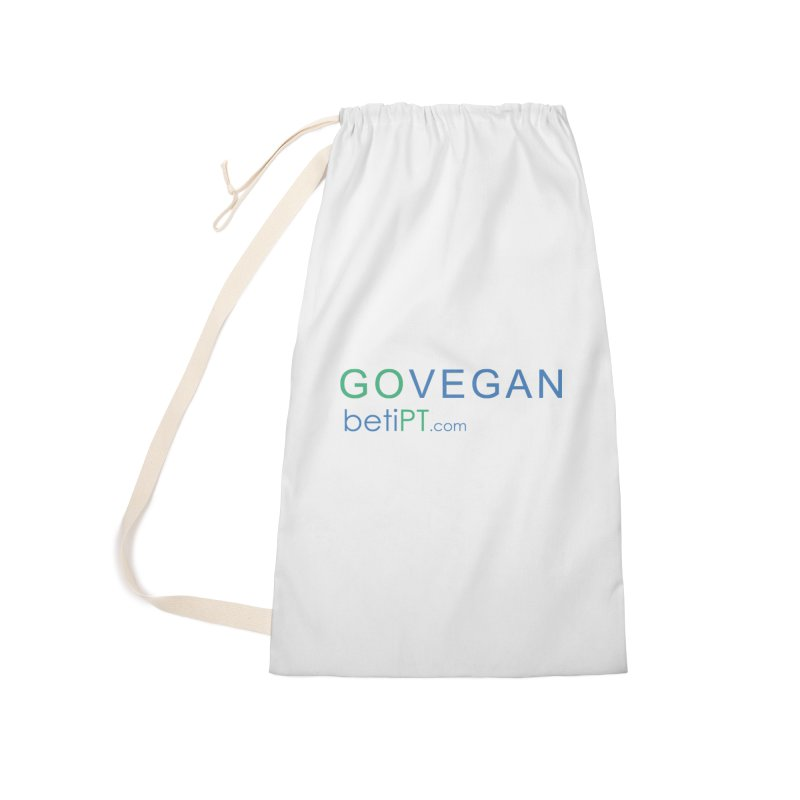 Go Vegan Accessories Laundry Bag Bag by betiPT's Artist Shop
