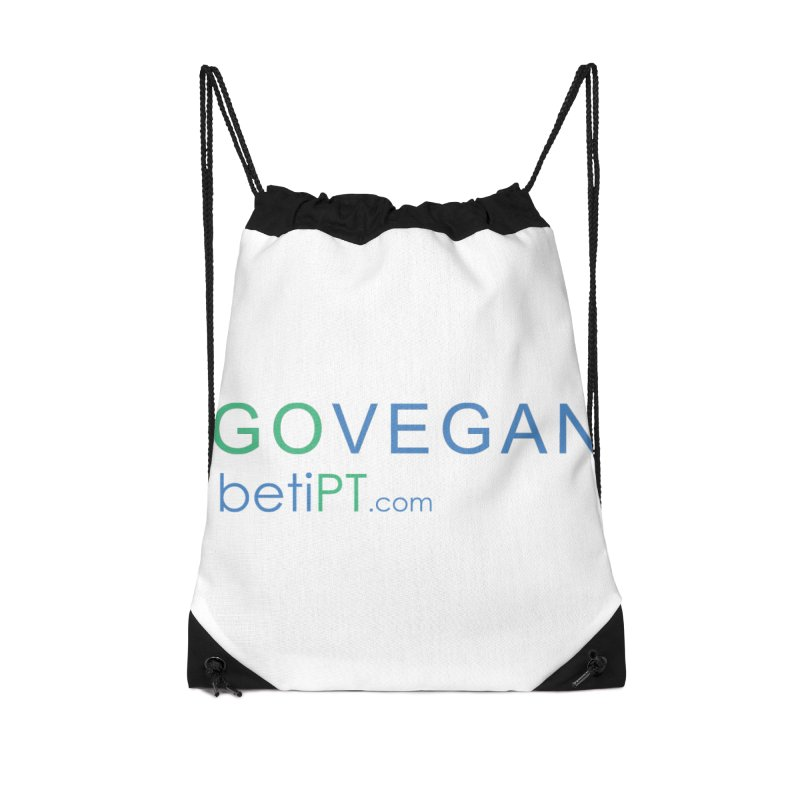 Go Vegan Accessories Bag by betiPT's Artist Shop