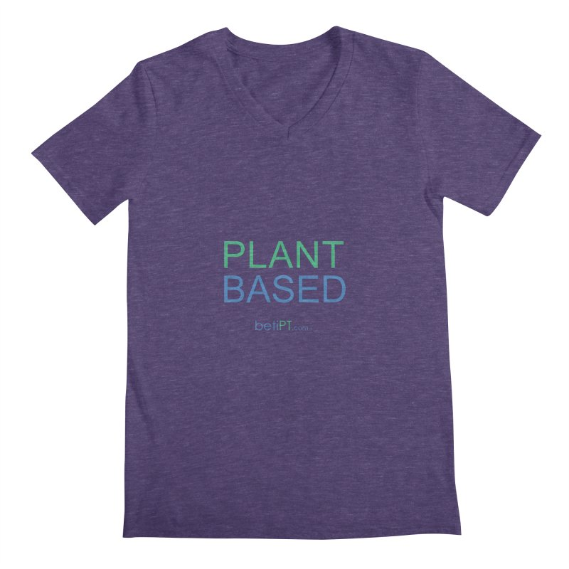 Plant Based Men's Regular V-Neck by betiPT's Artist Shop