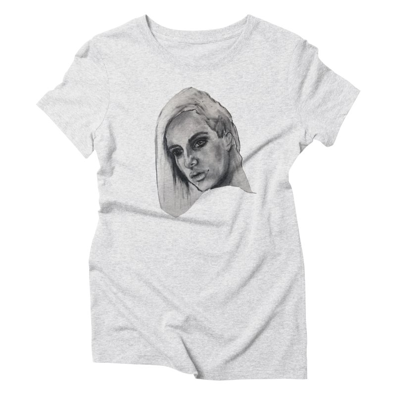 The Stars Began to Burn in Women's Triblend T-Shirt Heather White by betsy lam