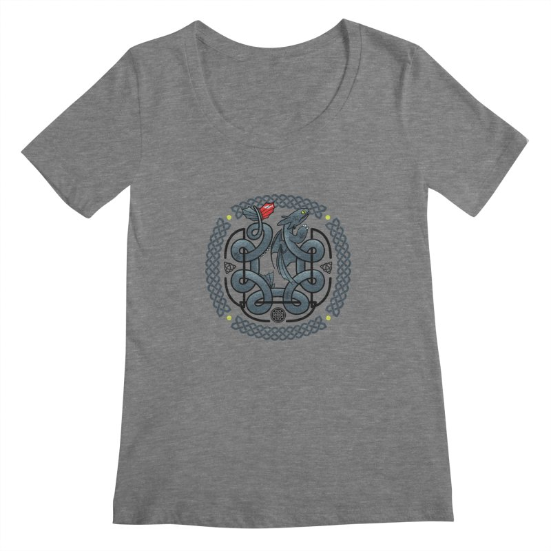 The Dragon's Knot Women's Scoopneck by beware1984's Artist Shop