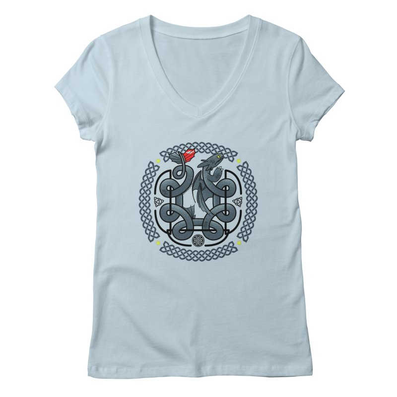 The Dragon's Knot Women's V-Neck by beware1984's Artist Shop
