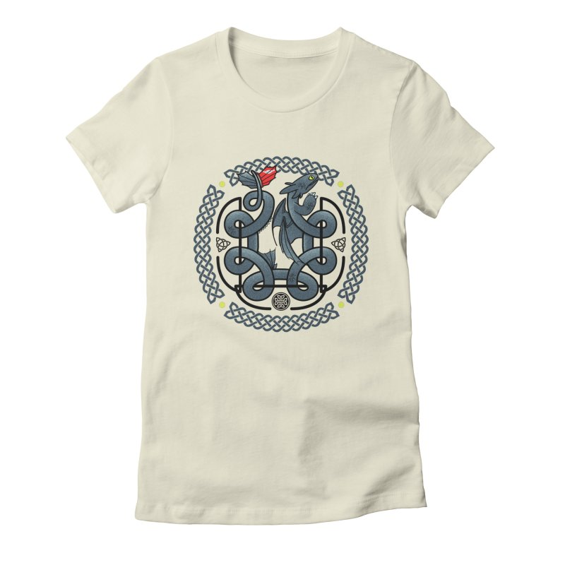 The Dragon's Knot Women's Fitted T-Shirt by beware1984's Artist Shop