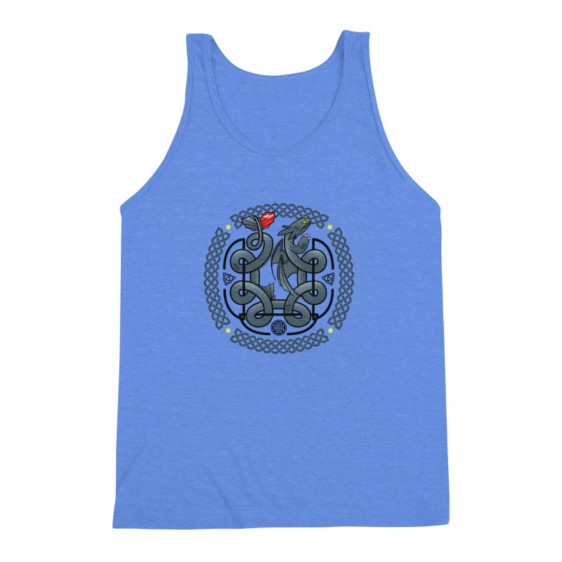 The Dragon's Knot Men's Triblend Tank by beware1984's Artist Shop