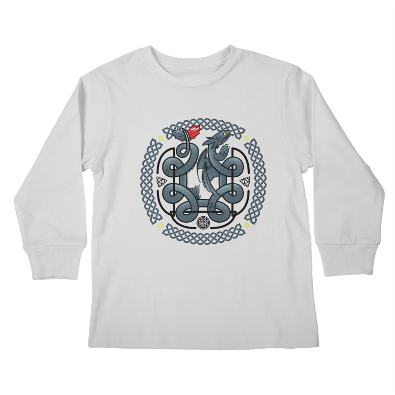 The Dragon's Knot Kids Longsleeve T-Shirt by beware1984's Artist Shop