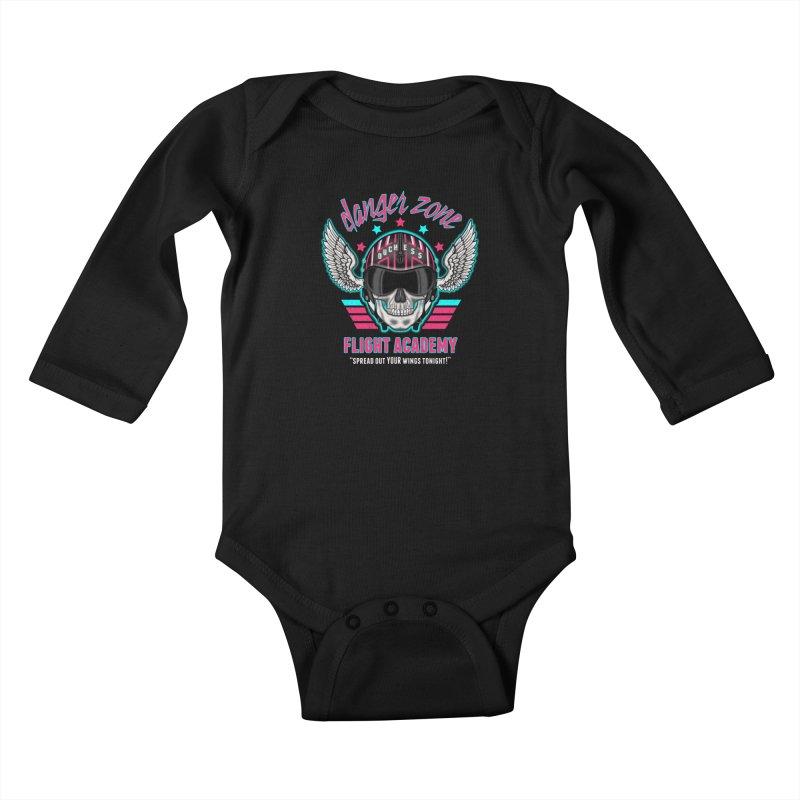 Danger Zone Flight Academy Kids Baby Longsleeve Bodysuit by beware1984's Artist Shop