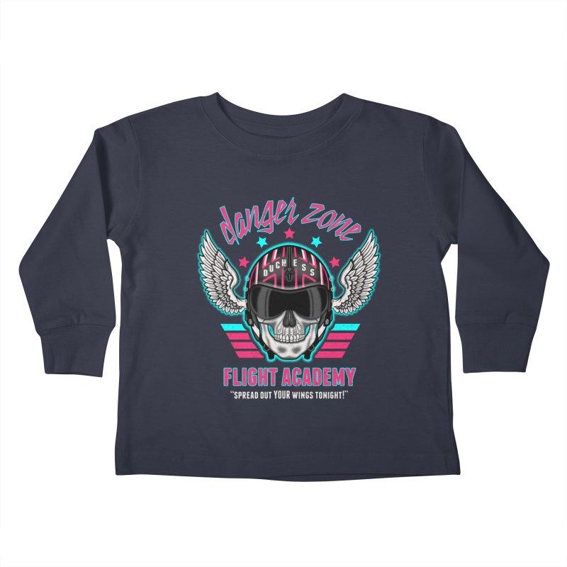 Danger Zone Flight Academy Kids Toddler Longsleeve T-Shirt by beware1984's Artist Shop