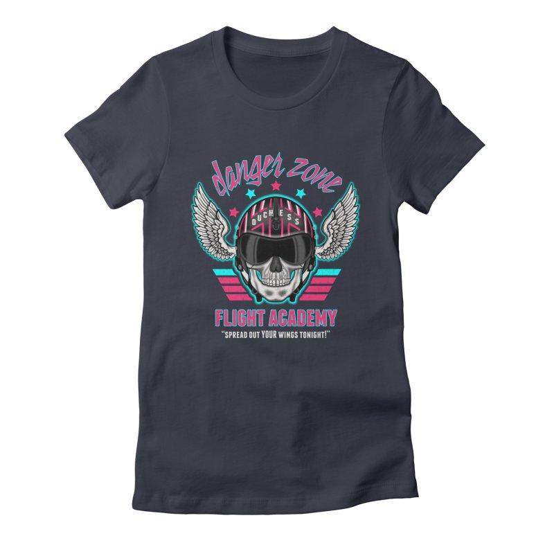 Danger Zone Flight Academy Women's Fitted T-Shirt by beware1984's Artist Shop