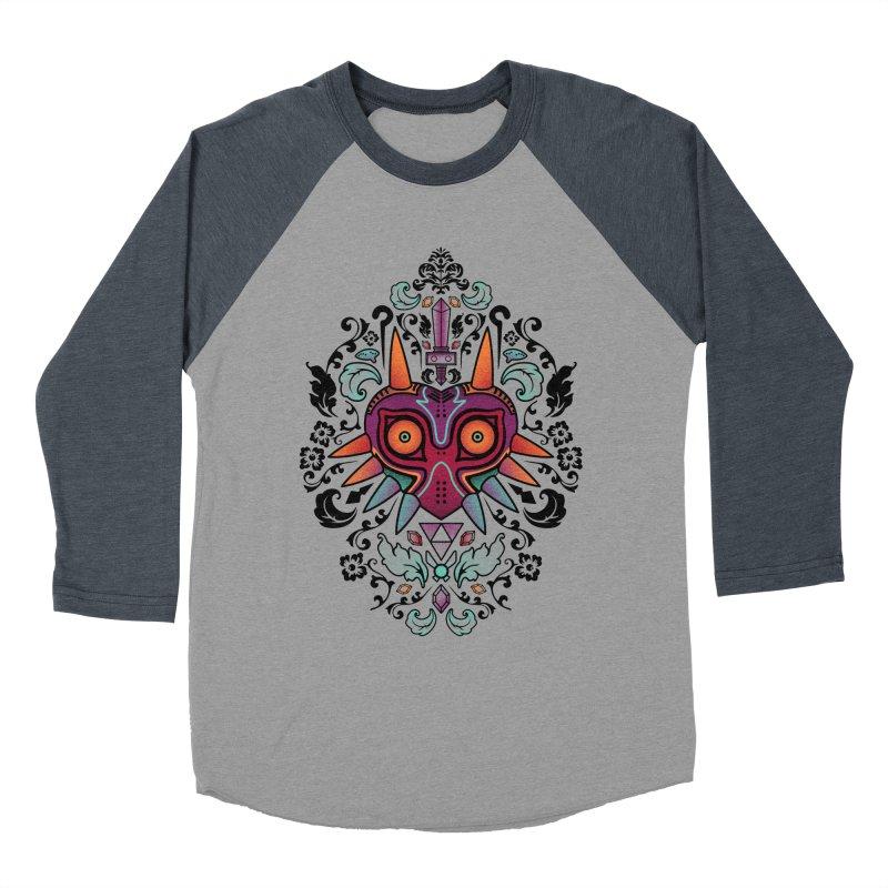 Majora's Damask Women's Baseball Triblend T-Shirt by beware1984's Artist Shop