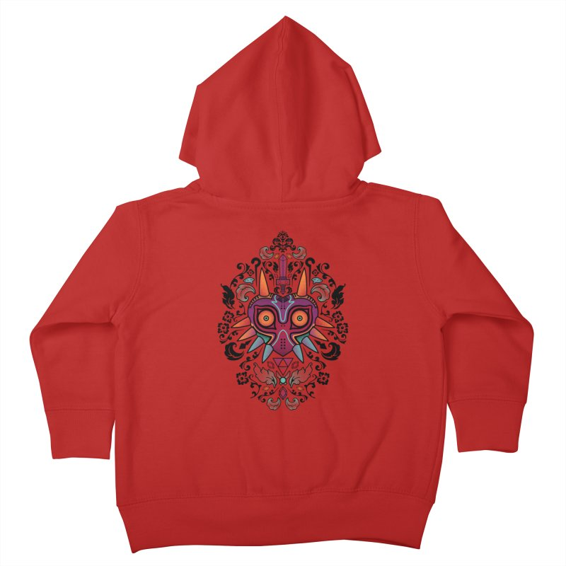 Majora's Damask Kids Toddler Zip-Up Hoody by beware1984's Artist Shop