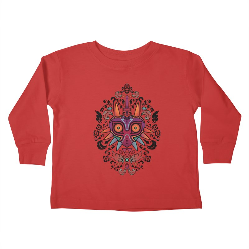 Majora's Damask Kids Toddler Longsleeve T-Shirt by beware1984's Artist Shop