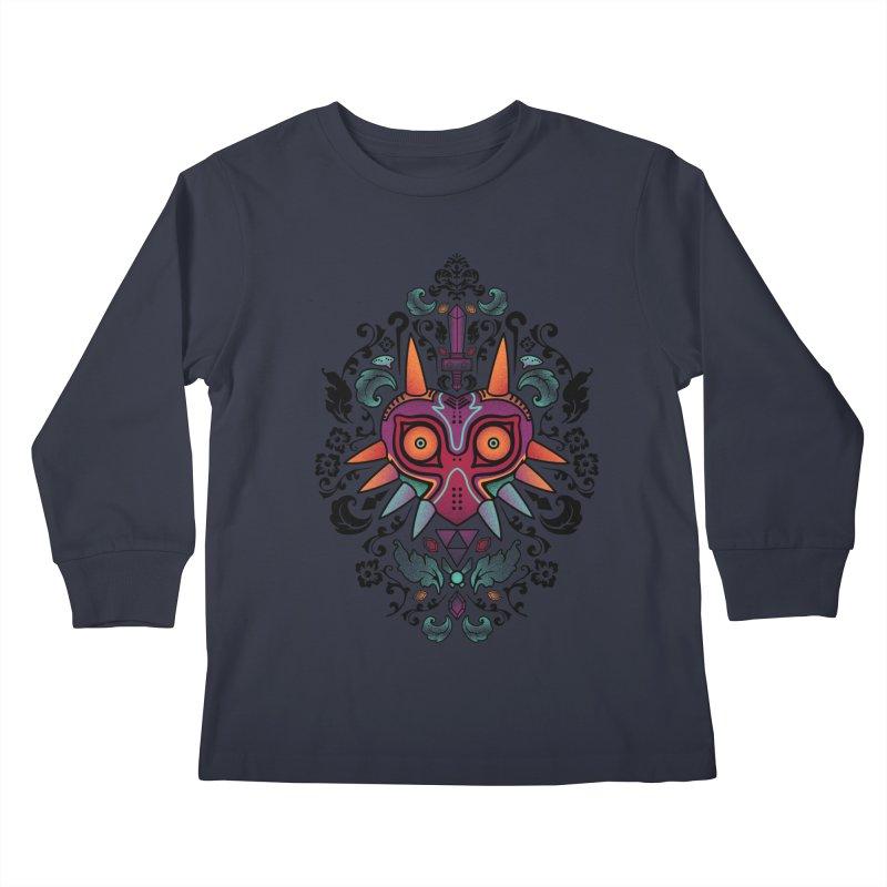 Majora's Damask Kids Longsleeve T-Shirt by beware1984's Artist Shop