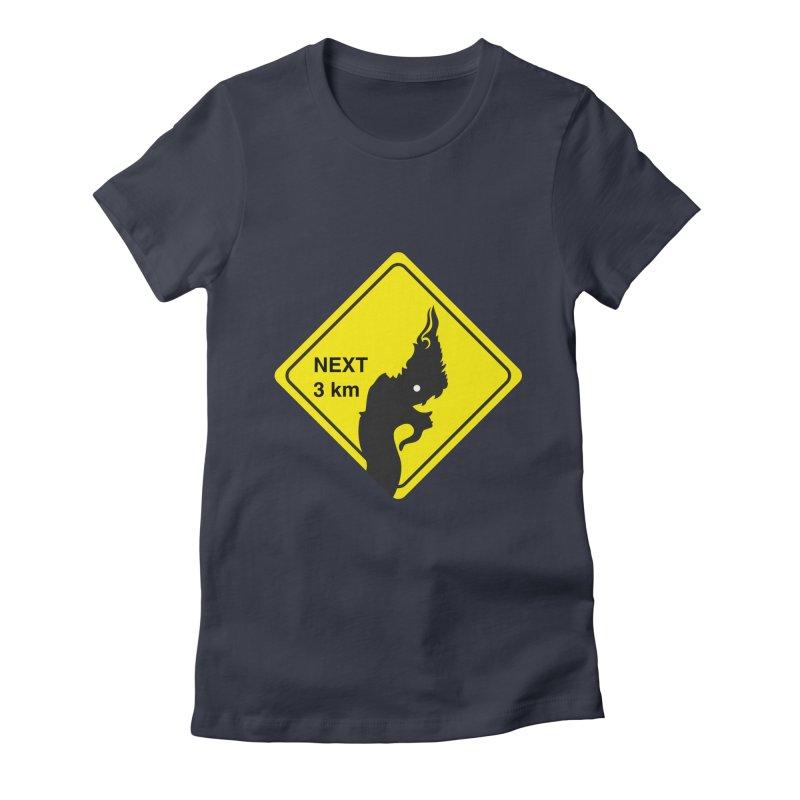 Naga ahead Women's Fitted T-Shirt by BeyondMekong | Inspired by SEA Wanderlust