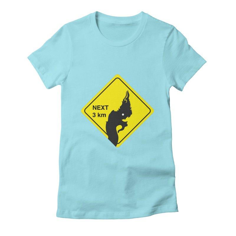 Naga ahead Women's Fitted T-Shirt by BeyondMekong   Inspired by SEA Wanderlust
