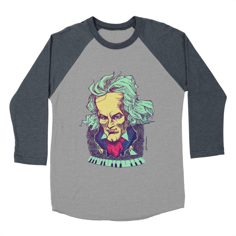Ludwig Van B Women's Baseball Triblend T-Shirt by Donovan Alex's Artist Shop