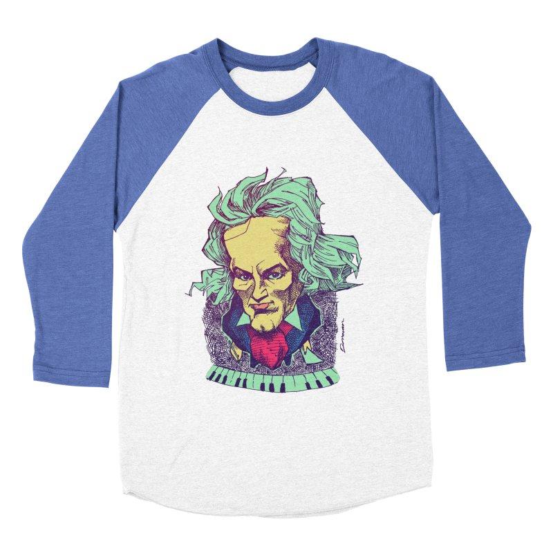 Ludwig Van B Men's Baseball Triblend T-Shirt by Donovan Alex's Artist Shop