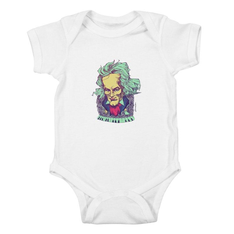 Ludwig Van B Kids Baby Bodysuit by Donovan Alex's Artist Shop