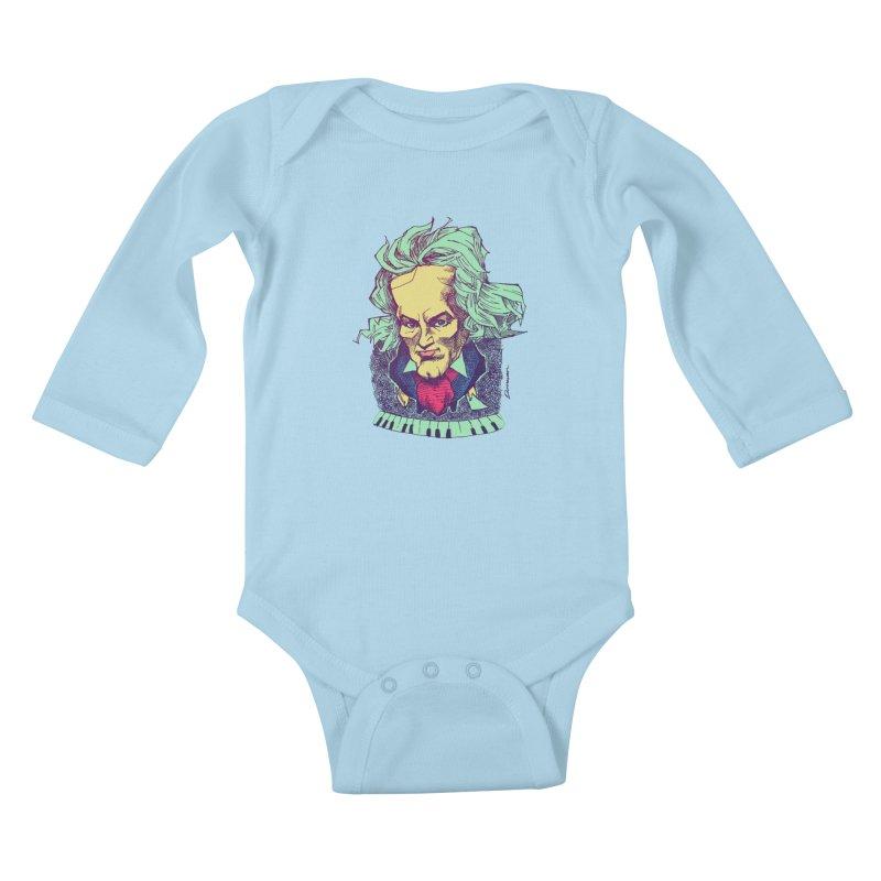 Ludwig Van B Kids Baby Longsleeve Bodysuit by Donovan Alex's Artist Shop
