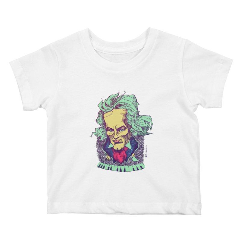 Ludwig Van B Kids Baby T-Shirt by Donovan Alex's Artist Shop